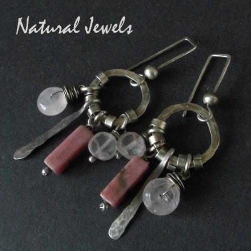 Earrings Rosequartz