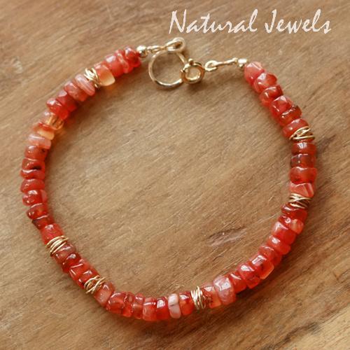 Oranje edelsteen armband
