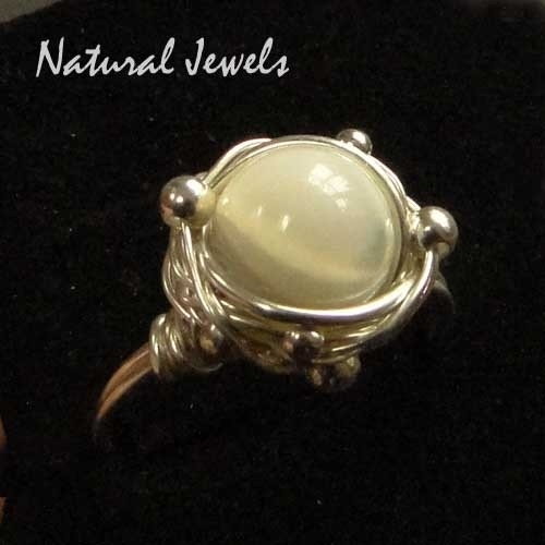 Pimped Silver Ring Mother of Pearl