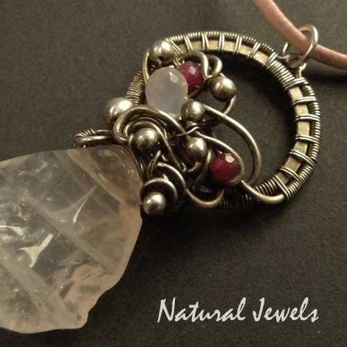 Necklace Rosequartz Balance