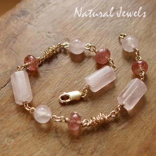 Roze edelsteen Armband