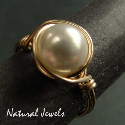 Ring Golden Shell Pearl