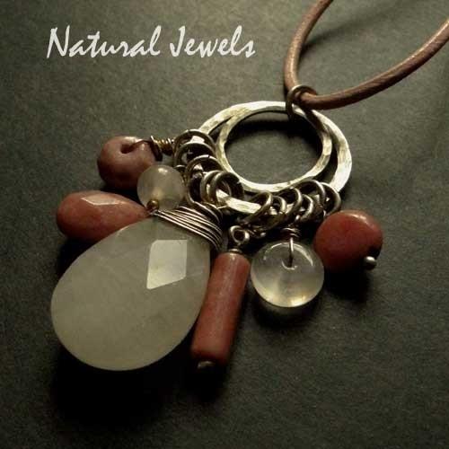 Necklace Earthy Rosequartz