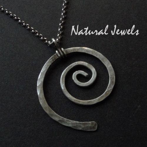 Necklace Silver Spiral
