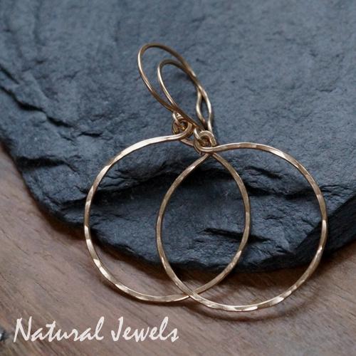 Gereserveerd - Gouden gehamerde cirkels