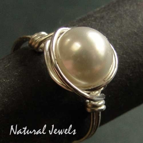 Ring Silver Shell Pearl