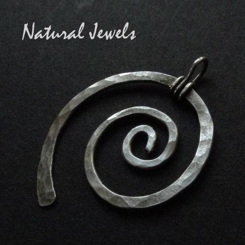 Pendant Silver Spiral
