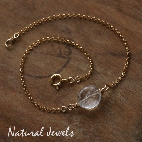 Gouden Bergkristal Armbandje of Enkelbandje