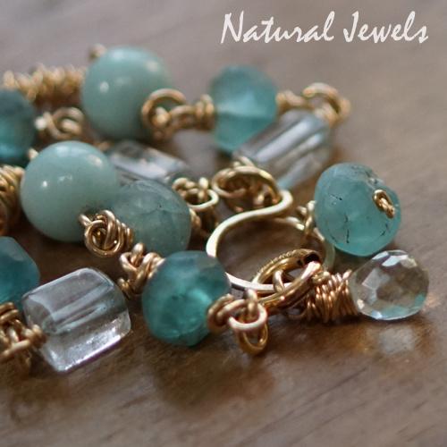 Blauwe Edelsteen armband goud