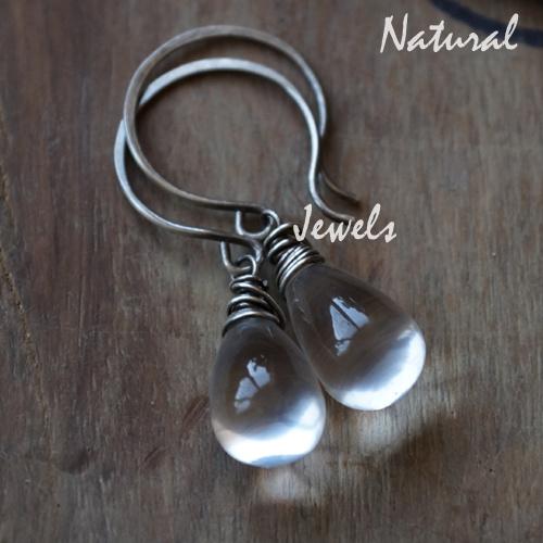 Zilveren oorbellen Waterdruppels