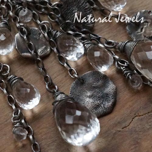 Zilveren oorbellen Robust Rockcrystal