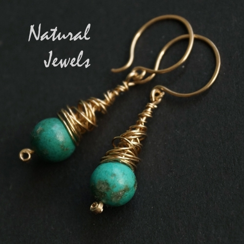 14K Gf Turquoise in a Cocoon