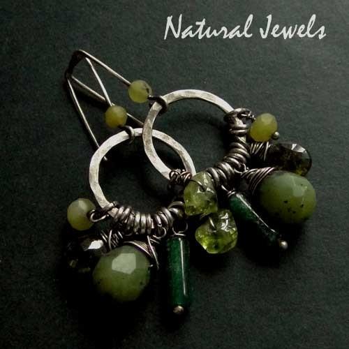 Earthy Green Gemstones