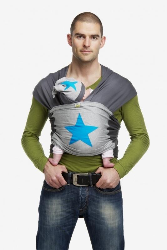 ByKay Design tricot draagdoek met Turquoise ster