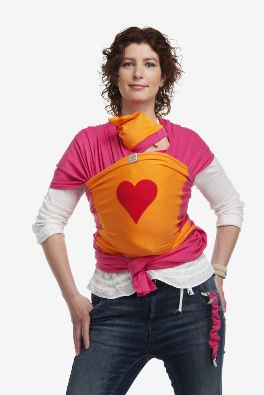 ByKay Design tricot draagdoek met Rood hart