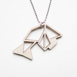 Origami vis ketting blocks