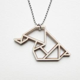 Origami olifant ketting open
