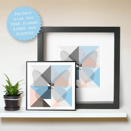 Origami artprints Blossom serie