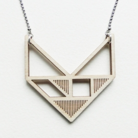 Tangram chevron ketting stripes