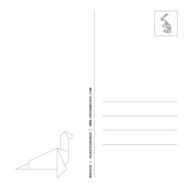 Origami kaart nessie