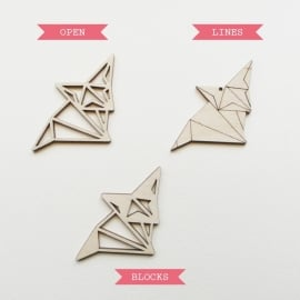 Origami vos ketting open