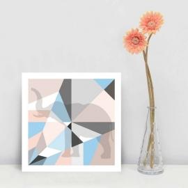 Origami kaart olifant