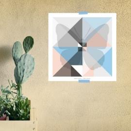 Origami artprint vlinder