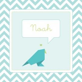Vogel blauwgroen