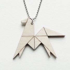 Origami paard ketting lines