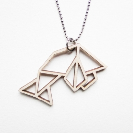 Origami vis ketting open