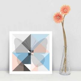 Origami kaart vlinder