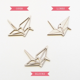 Origami kraanvogel ketting blocks