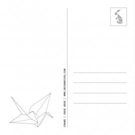 Origami kaart kraanvogel