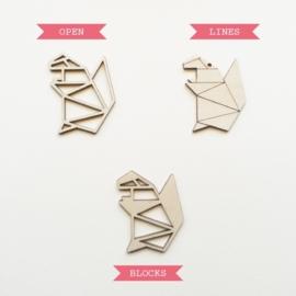 Origami eekhoorn ketting open