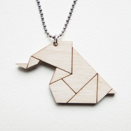 Origami olifant ketting lines