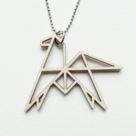 Origami paard ketting open