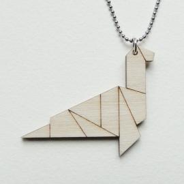Origami Monster van Loch Ness ketting lines