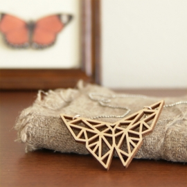 Origami vlinder ketting open