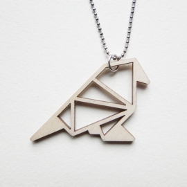 Origami mus ketting blocks