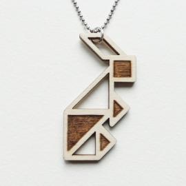 Tangram konijn ketting blocks