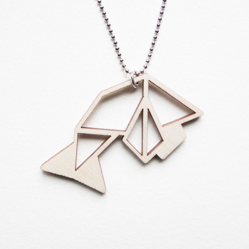 Origami vis ketting blocks