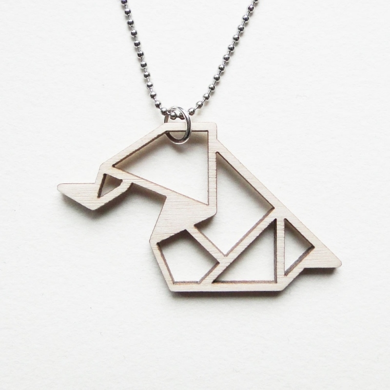 Origami olifant ketting blocks
