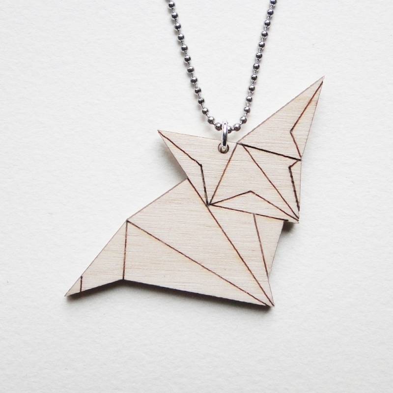 Origami vos ketting lines