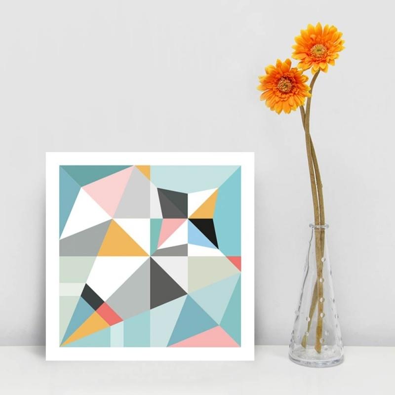 Origami kaart huismus
