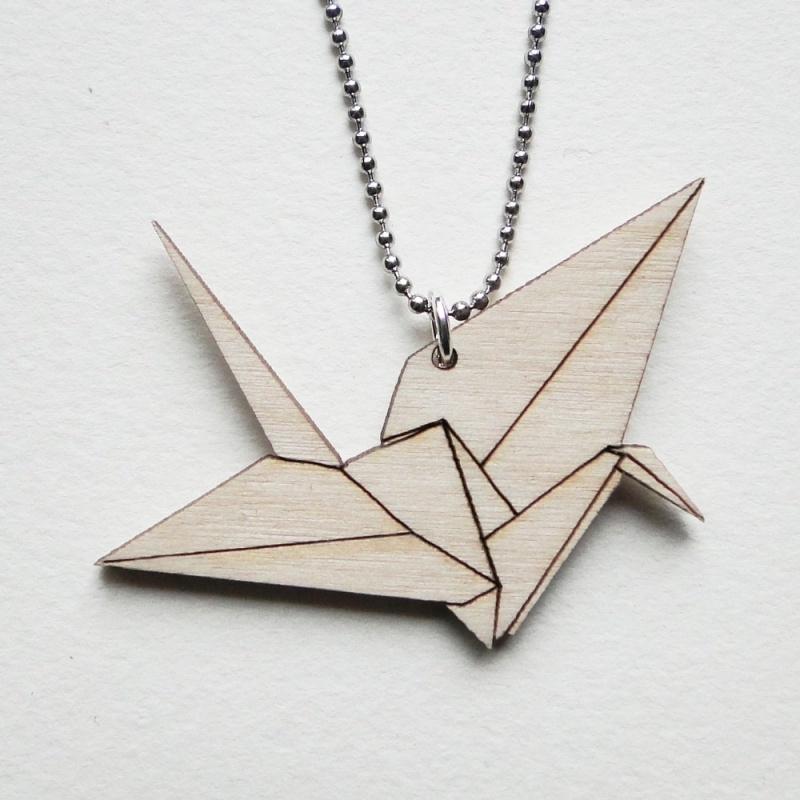 Origami kraanvogel ketting lines