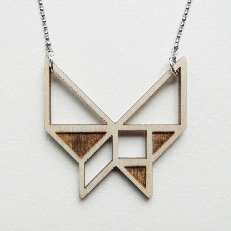 Tangram vlinder ketting blocks