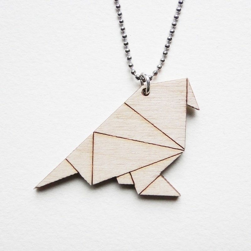 Origami mus ketting lines