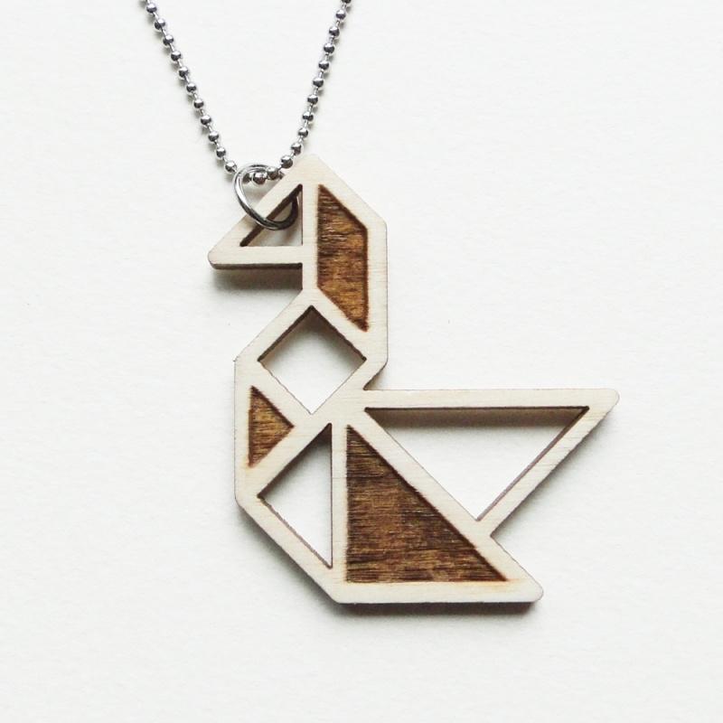 Tangram zwaan ketting blocks