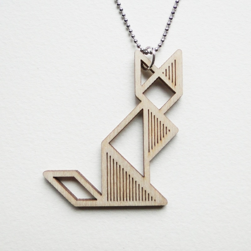 Tangram kat ketting stripes