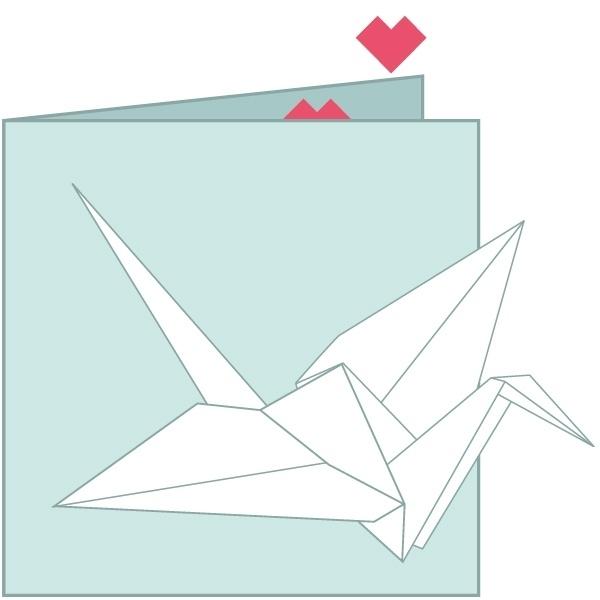 Dubbele kaart met vouwvel
